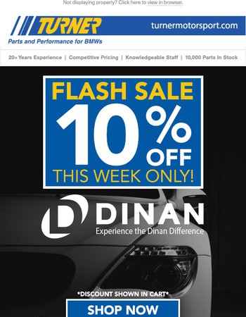 10% Off - DINAN - Experience the Dinan Difference