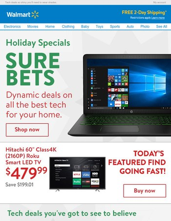 Wishes can come true! Take a look at these great deals in electronics.