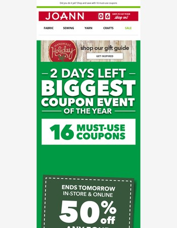 Only 2 Days Left! LOTS of Must-Use Coupons