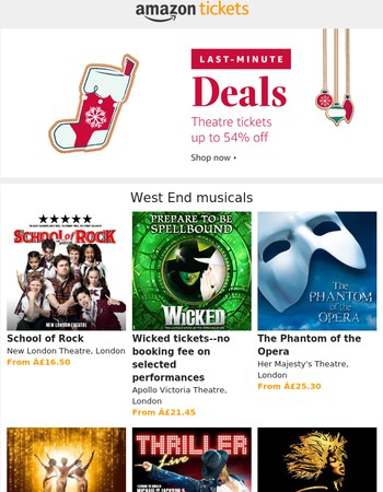 Perfect Christmas gifts--West End musicals and plays