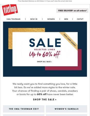 New SALE lines: Up to 60% off!