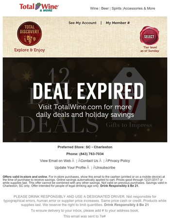 Day 7 Deals - A Holiday Selection of Napa Cabernets and Bourbon for You!