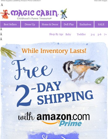 Gifts Arrive on Time with FREE 2-Day Shipping