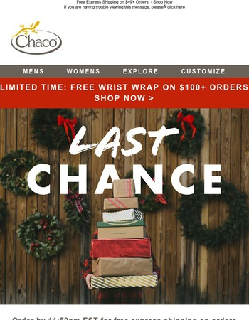 Last Day: Free Express Shipping for Delivery by 12/25 + Shop Sale