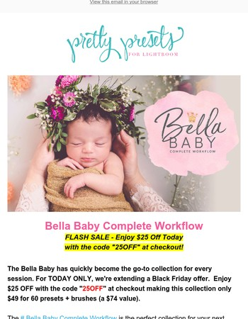 ⚡TODAY ONLY: $25 Off Bella Baby Complete Workflow ⚡