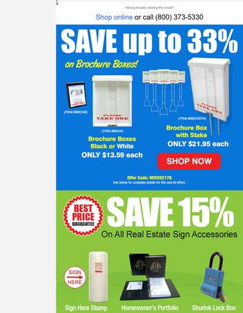 End of Year Savings on Yard Sign Products!
