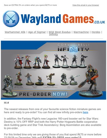 Immerse Yourself In A New World With New Infinity Pre-Orders, Star Wars Destiny, and Star Trek and Harry Potter Board Games!✊-U