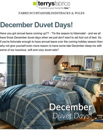 December Duvet Days - Staying Cosy And Warm This Christmas