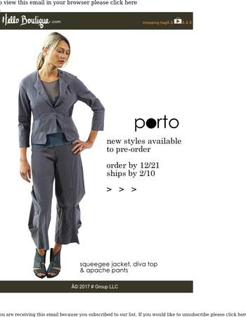 Porto // New Items + New Markdowns