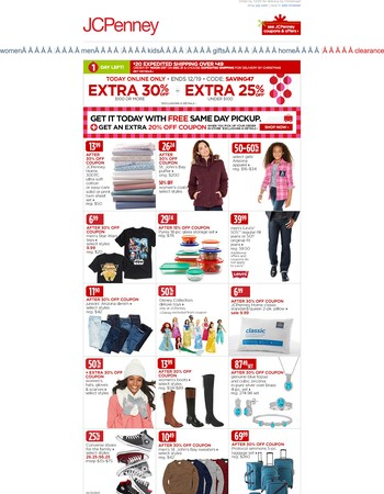 Still shopping? Here's an Extra 30% off