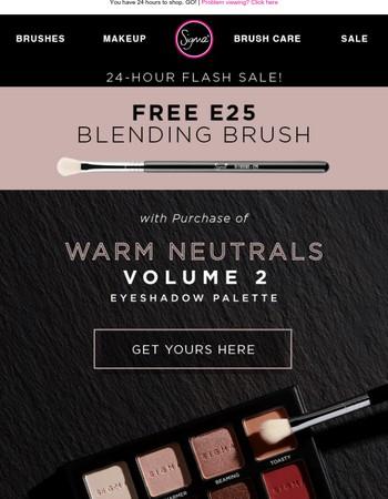 #1 brush FREE with Warm Neutrals Vol. 2!