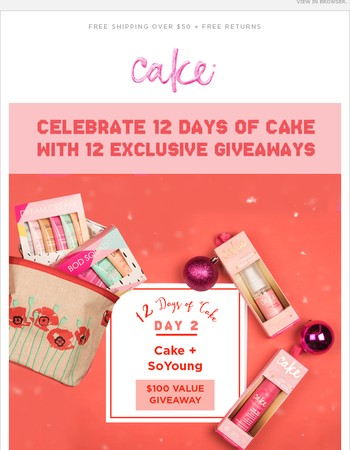 On the 2nd Day of Cake  Win a $100 Giveaway