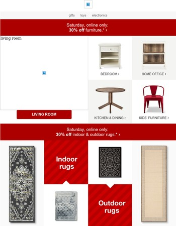 30% off furniture today? Rock this online deal now.
