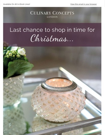 Final Chance To Shop For Christmas | Order By 1pm Today Selecting Next Day Delivery