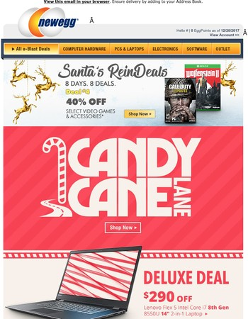 Take a Trip Down Candy Cane Lane: 40% Off Select Video Games & Accessories
