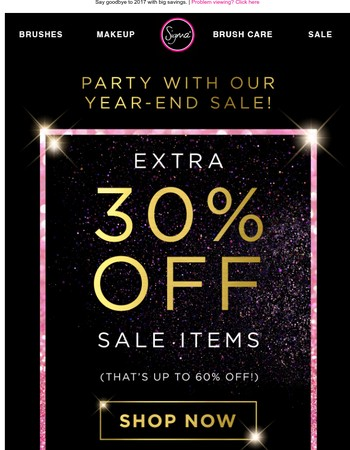Hours Remaining! 30% Off Sale Items