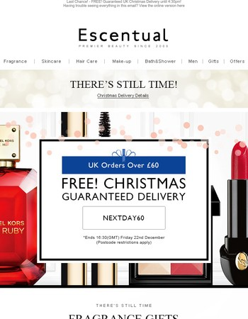 Last Chance! - FREE! Guaranteed UK Christmas Delivery until 4:30pm!
