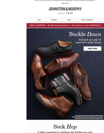 Buckle Down. Free Shipping!