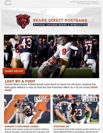 Bears Direct Postgame: Bears 14 - 49ers 15