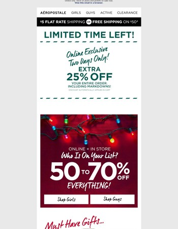 Extra 25% Off Your Entire Order, Including Markdowns