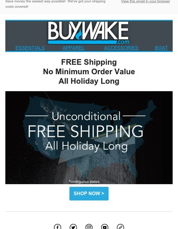 100% FREE Shipping...All Holiday Long!