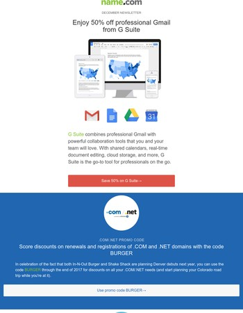 December Newsletter: Our lowest price on G Suite