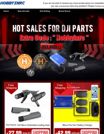Dear  Up To 62% Off  About the Hot Sales For DJI Parts  All With Free Shipping