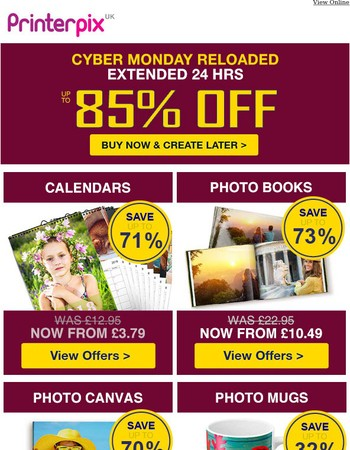 Missed the best Cyber Monday offers? We've extended 85% OFF deals.