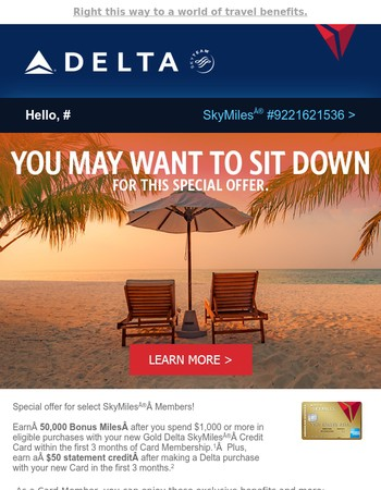Mary: Jumpstart Your Holidays with 50,000 Bonus Miles!