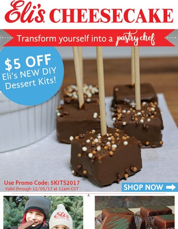 Get in the Holiday Spirit & Save $5 on Eli's NEW DIY Dessert Kits!