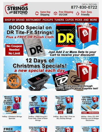 More Awesome String and Accessories Specials Revealed...