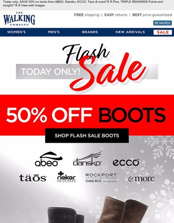 FLASH SALE! 50% OFF Boots... | Triple Points End Today!