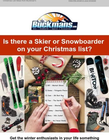Christmas List Ideas from Buckman's