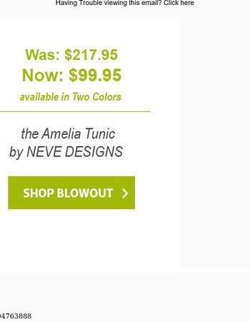 Lunch Blowout | Over 50% OFF the Amelia Tunic by NEVE DESIGNS!