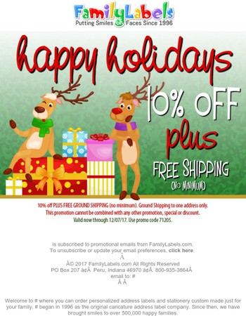 10% off PLUS Free Shipping Sitewide!