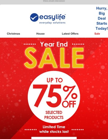 Year End Sale! Up to 75% Off!