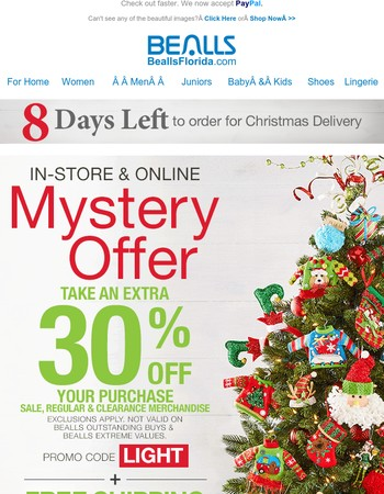 EXTRA 30% Off! Get Gifting!