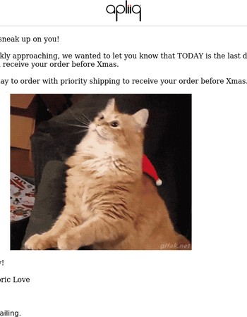 Today Is The LAST Day To Order For Xmas With Free Shipping