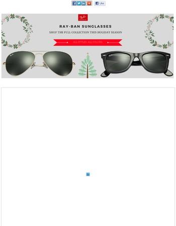 Holiday Sale on Ray-Ban, Oakley, Coach and More - Deals You Can't Miss Now