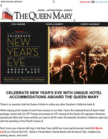 Your New Year's Eve VIP Hotel Package Has Arrived