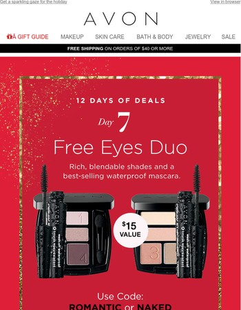 Day 7!  Quick! Unwrap Your FREE Makeup Gift Inside!