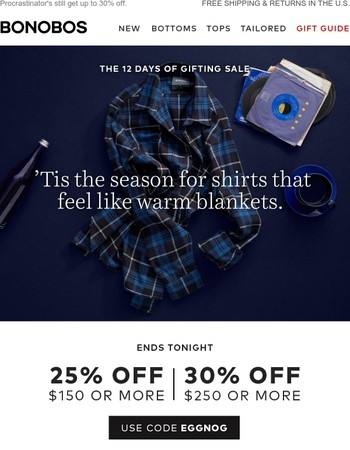 Final day: Up to 30% off!