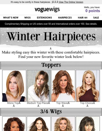 Top off the year with hairpieces