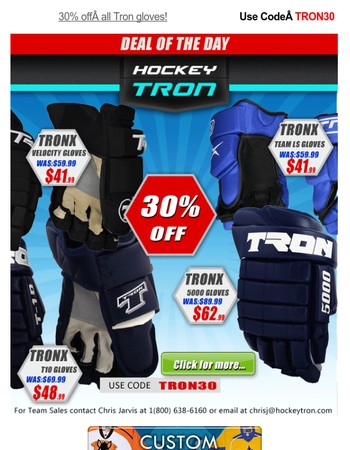 ⭐⭐⭐ 30% off all Tron gloves - Use Code TRON30