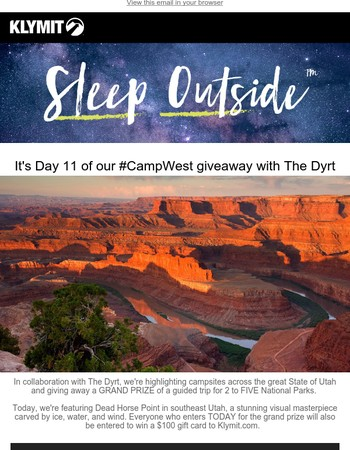 #CampWest GIVEAWAY! Win a trip for 2 to FIVE National Parks!