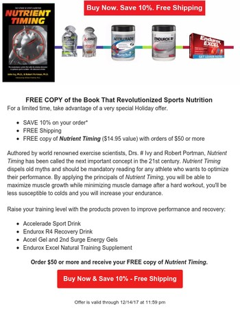 FREE Copy of the Book That Revolutionized Sports Nutrition