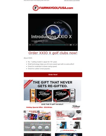 New Product Launch: XXIO X (the automatic sweet spot finding golf clubs)