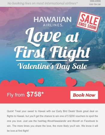 ❤  Early Bird Sweet Treats to Hawaii!  ❤  Last Chance   ❤  Return fr. $758!