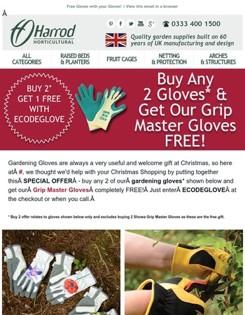 Special Offer - 3 for 2 on our Gardening Gloves