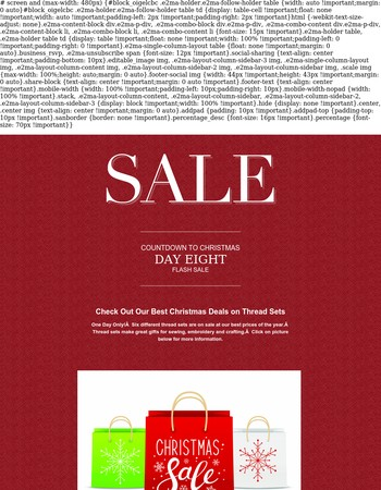 Christmas Deals On Thread Sets - One Day Flash Sale